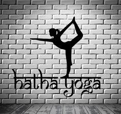 Wall Decal Hatha Yoga Symbol Spiritual Sanskrit Decor Vinyl Art Sticker M578