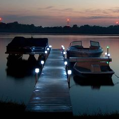 Solar Dock Lights Outdoor Boat Post Light Lake