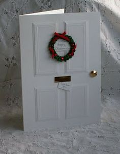 The Pinkshop Blog: Christmas Door Tutorial