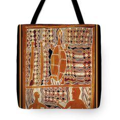 MaoriTribal Turtle Printed PolyPoplin Tote Bag - Cotton Printed Throw Pillow - Tribal Decor
