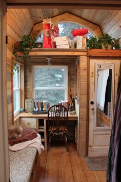 April's tiny house...130 square foot tiny house on wheels