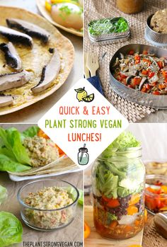 Two of the things people ask me most about are meal prepping for the week and packing quick lunches. Today I'm finally tackling the latter, sharing my go-to top 4 meals that are perfect for lunchti...
