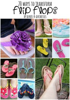 20 ways to transform flip flops for summer diy upcycle cloth Diy Projects For Kids, Crafts For Boys, Diy For Kids, Tween Craft, Art Projects, Cheap Flip Flops, Cute Flip Flops, Summer Fashion Tumblr, Outfits Hipster