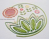 Sweetsong Modern Jacobean crewel hand embroidery pattern
