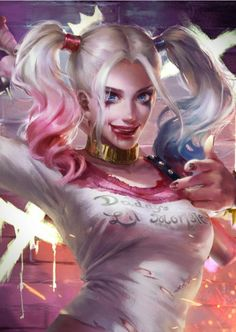 Harley Quinn - fan art by Sariya Asavametha Dr Quinn, Hq Dc, Daddys Lil Monster, Devian Art, Queen Art, Batman The Dark Knight, 3d Girl, Universe Art, Fan Art