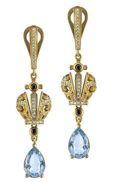 Joëlle Jewellery diamond teardrop earrings - Metallic DRuXW