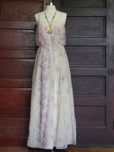 Love label vintage maxi dress