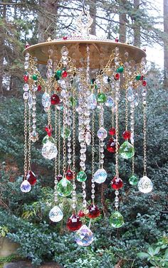 Large Multi-Strand Crystal Sun Catcher  Made to by sheri's crystals