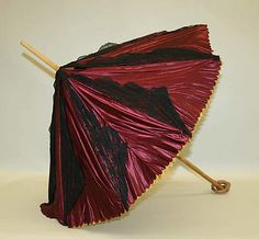 Parasol Date: 1880s Culture: American Medium: silk, wood Dimensions: [no dimensions available] Credit Line: Gift of Mr. William Drown Phelps, 1943 Accession Number: C.I.43.29.11