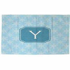 Thumbprintz Snowflake Monogram Rug