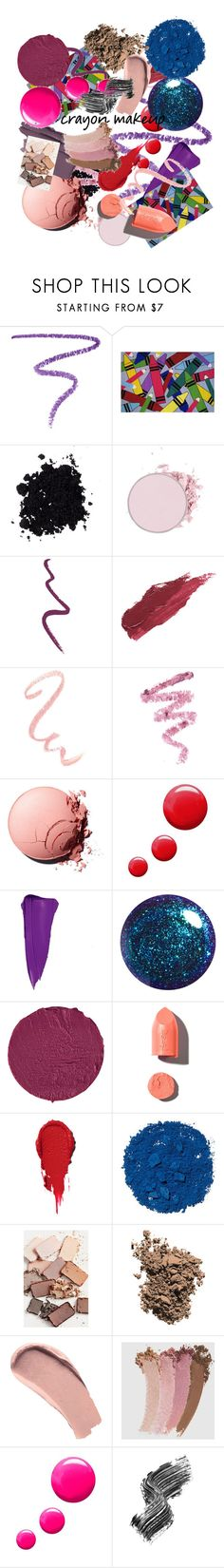 """""""All the colors: Crayon-Inspired makeup"""" by genesisdesign ❤ liked on Polyvore featuring beauty, Marc Jacobs, Fun Rugs, Topshop, Lily Lolo, Cynthia Rowley, Charlotte Russe, Givenchy, PUR and Illamasqua"""
