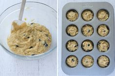 Almond Flour Blueberry Banana Muffins are easy almond flour muffins that come together in just one bowl, and they're dairy-free, gluten-free and paleo! Almond Flour Muffins, Baking With Almond Flour, Almond Flour Recipes, Baking Flour, Banana Blueberry Muffins, Blueberry Cake, Blue Berry Muffins, Banana Bread Low Carb, Gluten Free Banana