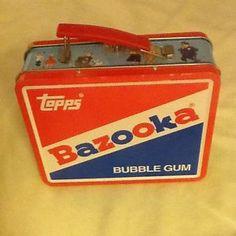 Good old bazooka bubble gum. Retro Lunch Boxes, Lunch Box Thermos, Tin Lunch Boxes, Metal Lunch Box, Bento Box Lunch, Tin Boxes, Retro Toys, Vintage Toys, 90s Toys