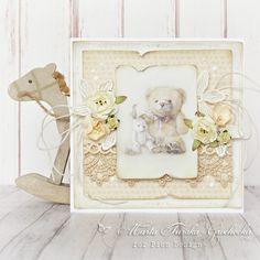 A sweet baby card with the Theodore and Bella collection