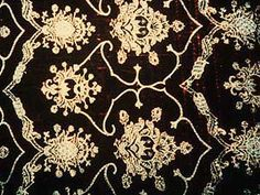 Hispano-Moresque - second half of 15th century. Silk voided velvet with metallic couching.
