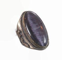 Purple Cat's Eye Dragon Phoenix Ring  Vintage by InVintageHeaven