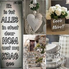 Morning Blessings, Good Morning Wishes, Secretary's Day, Lekker Dag, Afrikaanse Quotes, Goeie Nag, Goeie More, Morning Greetings Quotes, Special Quotes