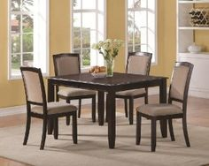 Memphis 5-Pc Rectangular Dining Table Set by Coaster Fine Furniture - Click pics for price <3