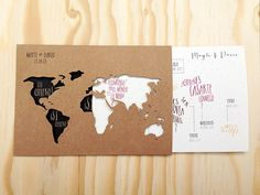 Invitaciones de boda personalizadas Print the Legend Mayte & Darío por @Print the Legend #invitaciones #printthelegend