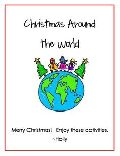 Great Christmas Around the World unit, including a passport. Cute and free!