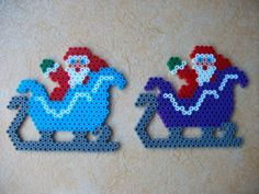 Christmas Santa hama perler beads by Nath Hour