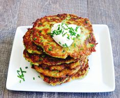 ZUCCHINI FRITTERS WITH PARMESAN