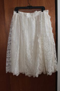Vintage PLUS SIZE Lace Romantic Skirt xl xxl by 27ogle on Etsy, $22.50