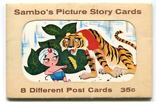 Complete Set of 8 Sambo's Restaurant 1960s Picture Story Postcards with Folder