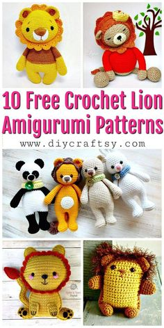 10 Free Crochet Lion Amigurumi Patterns - Free Crochet Patterns - DIY Crafts