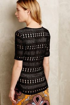 Lacework Tee - anthropologie.com