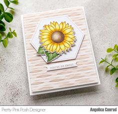 Card Making Tutorials, Card Making Techniques, Sunflower Cards, Thanksgiving Projects, Leaf Stencil, Pretty Pink Posh, Fall Bouquets, Fall Cards, Cool Patterns