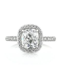 antique cushion diamond engagement ring in platinum i by mark broumand iu2026