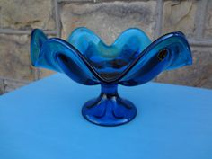 Vintage Cobalt Blue Glass Dish/Fruit Bowl by lildebi53 on Etsy, $21.00