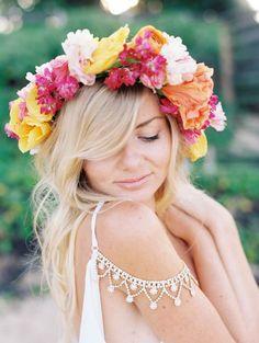 Tropical Flower Crowns For Your Island Wedding | @Bajan Wed