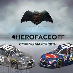 Movies: Dale Earnhardt Jr. and Jimmie Johnson pick sides in Batman v Superman duel 03/20/16
