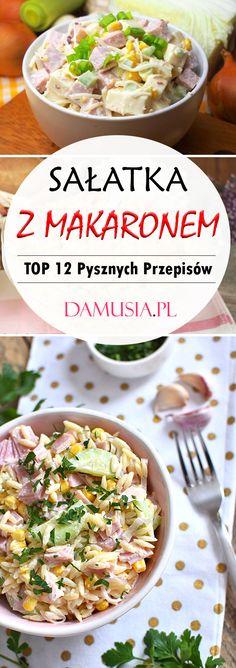 Sałatka z Makaronem – TOP 12 Pysznych Przepisów Które Musicie Wypróbować! Tacos, Salad, Lunch, Impreza, Eat, Cooking, Ethnic Recipes, Drinking, Food