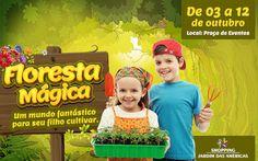 A Floresta Mágica é atração do Shopping Jardim das Américas   Jornalwebdigital