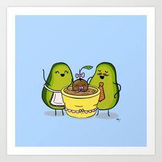 Proud Avocado Parents - Bilder Obst & Gemüse - Avocado Cartoon, Avocado Art, Cute Avocado, Cute Food Wallpaper, Trendy Wallpaper, Cute Wallpapers, Emoji Drawings, Cute Cartoon Drawings, Pop Art