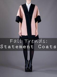 Fall Fashion Trends: Statement Coats