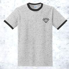 awesome Diamond Pocket Ringer T-Shirt for Men and Women