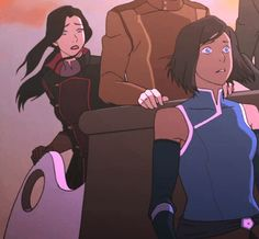 That moment when you realize you're about to be blasted by spirit energy. | Legend of Korra | Avatar | (gif)