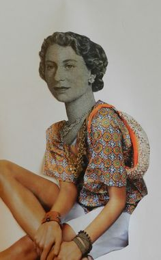 Contemporary Collage piece from Iris Karuna's class http://www.avenueroadartsschool.com/product-category/kid/mixed-media/