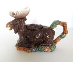 Fitz & Floyd Vintage Ceramic Moose Teapot