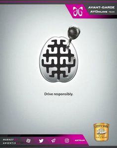 Cutty Sark Scotch Whisky - Drive responsibly - 12 Most Powerful Anti Drunk-Driving Ad Campaigns Creative Advertising, Ads Creative, Creative Posters, Advertising Poster, Advertising Design, Creative Design, Advertising Campaign, Guerilla Marketing, E-mail Marketing