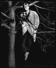 Richard Avedon - Alan Bennett in London, January 20, 1993.