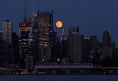 No matter where in the world you were located last night, the moon was serving up spectacular views.