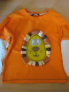 Lion head ribbon taggie t-shirt-HAVE to make one of this for Jabus
