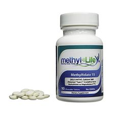 Methylfolate 15 - L-5-MTHF, (or (6S)-5-Methylfolate) calcium salt (15 mg per tablet) - [90 Chewable Tablets] -- Read more reviews of the product by visiting the link on the image.