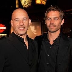 """Vin Diesel and Paul Walker. """"Ride or die."""" Total fast and furious fan. And these guysss... gahhhh! <3"""