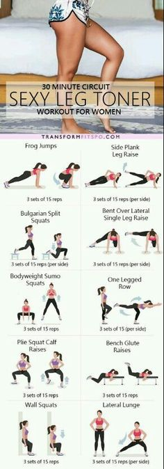 The ultimate sexy leg toner lower body circuit workout – Ever Well Women. Perfect workout for in your hotel room while traveling. Fitness Workouts, Fitness Diet, At Home Workouts, Fitness Motivation, Health Fitness, Fitness Plan, Butt Workouts, Training Workouts, Circuit Workouts